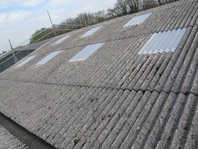 """Vaizdo rezultatas pagal užklausą """"asbestos roof"""""""