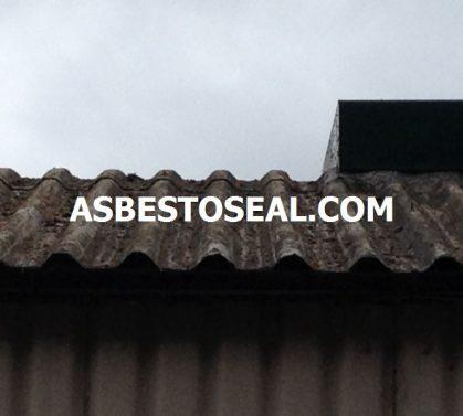 Pre-clean asbestos roof