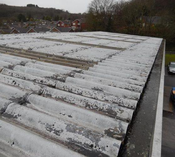 asbestos roof pre-cleaning